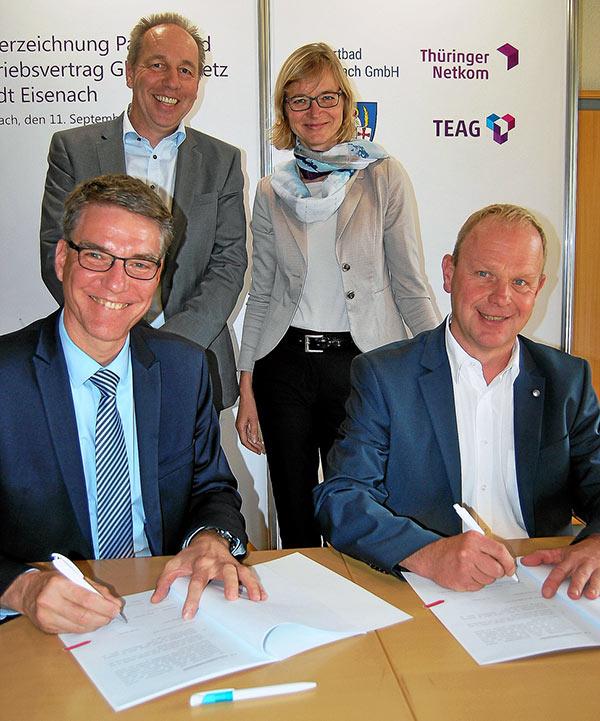 Vertragsabschluss zum Breitband-Ausbau am 11. September 2018